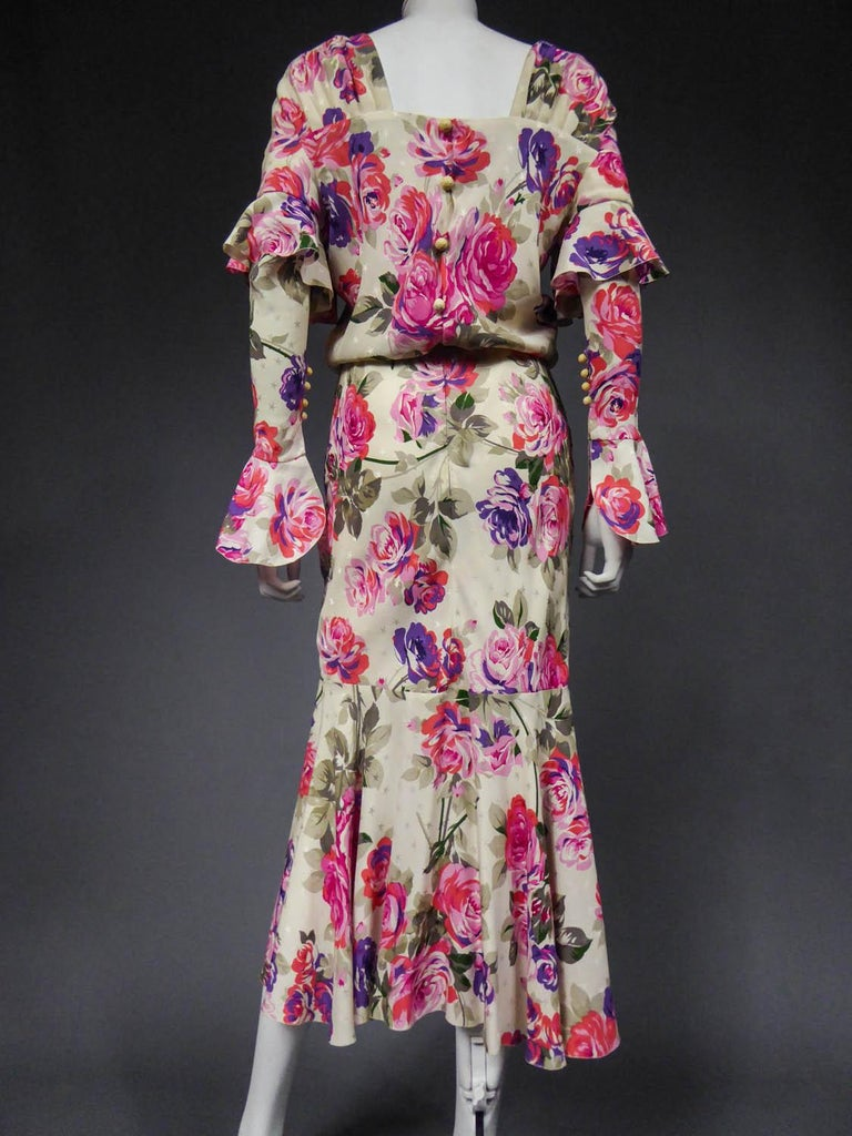 Jeanne Lanvin Couture Dress, Circa 1985  For Sale 6