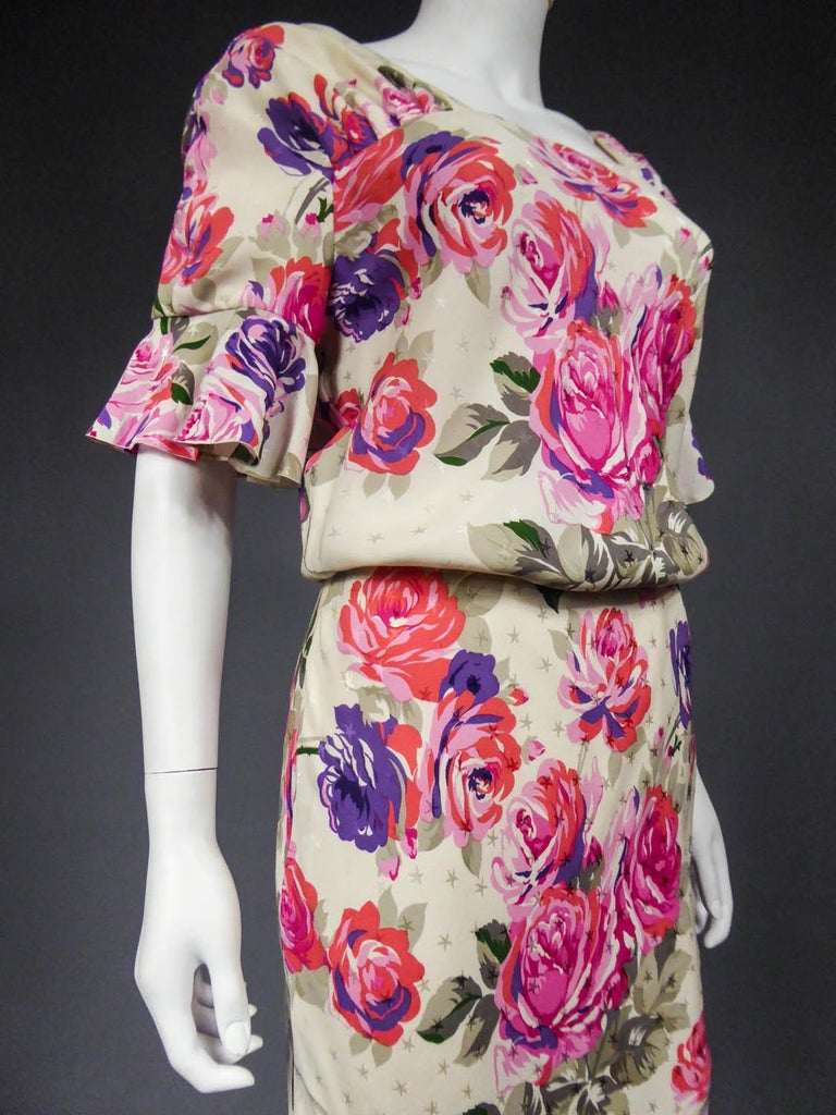 Jeanne Lanvin Couture Dress, Circa 1985  For Sale 9