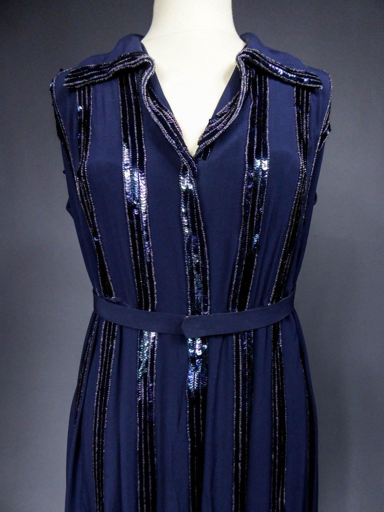 Worth Couture Dress, Circa 1960 In Excellent Condition For Sale In Toulon, FR