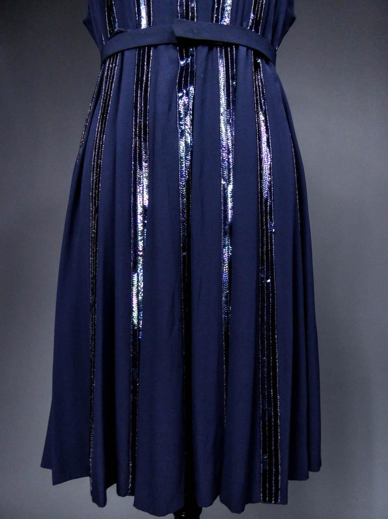 Worth Couture Dress, Circa 1960 For Sale 1