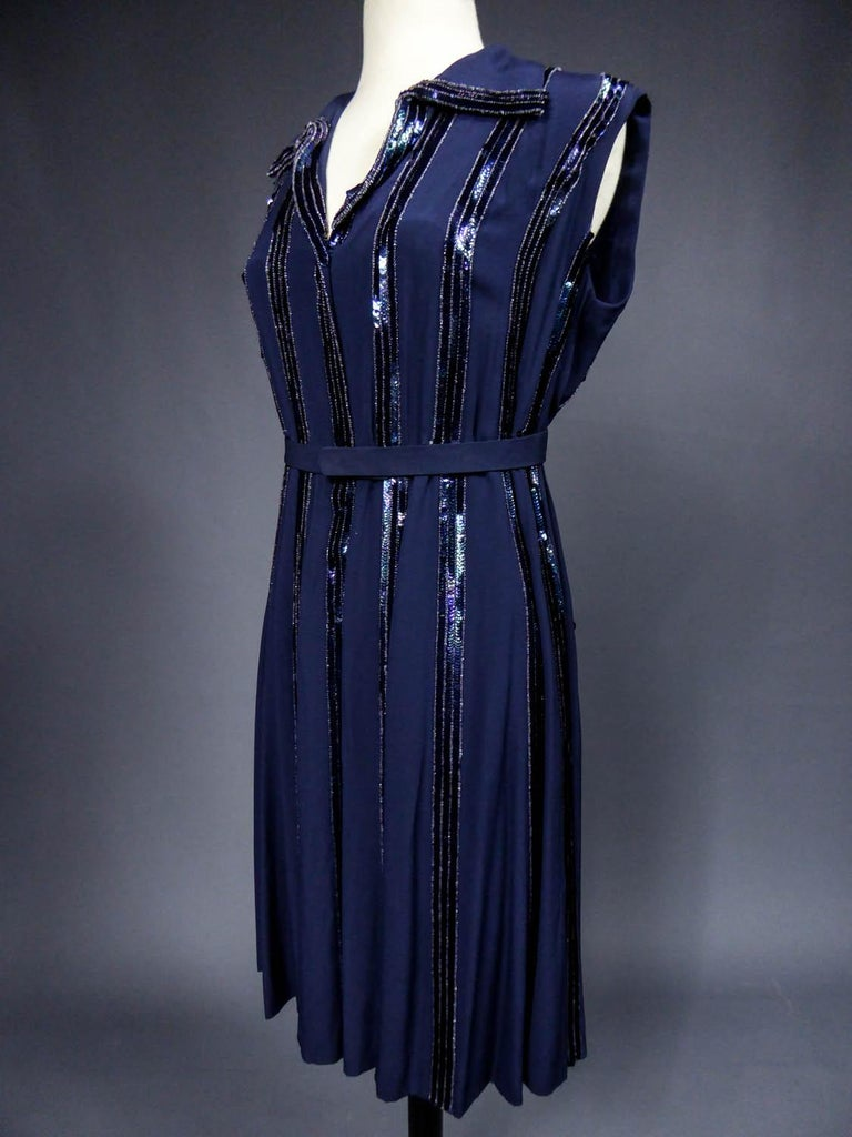 Worth Couture Dress, Circa 1960 For Sale 2