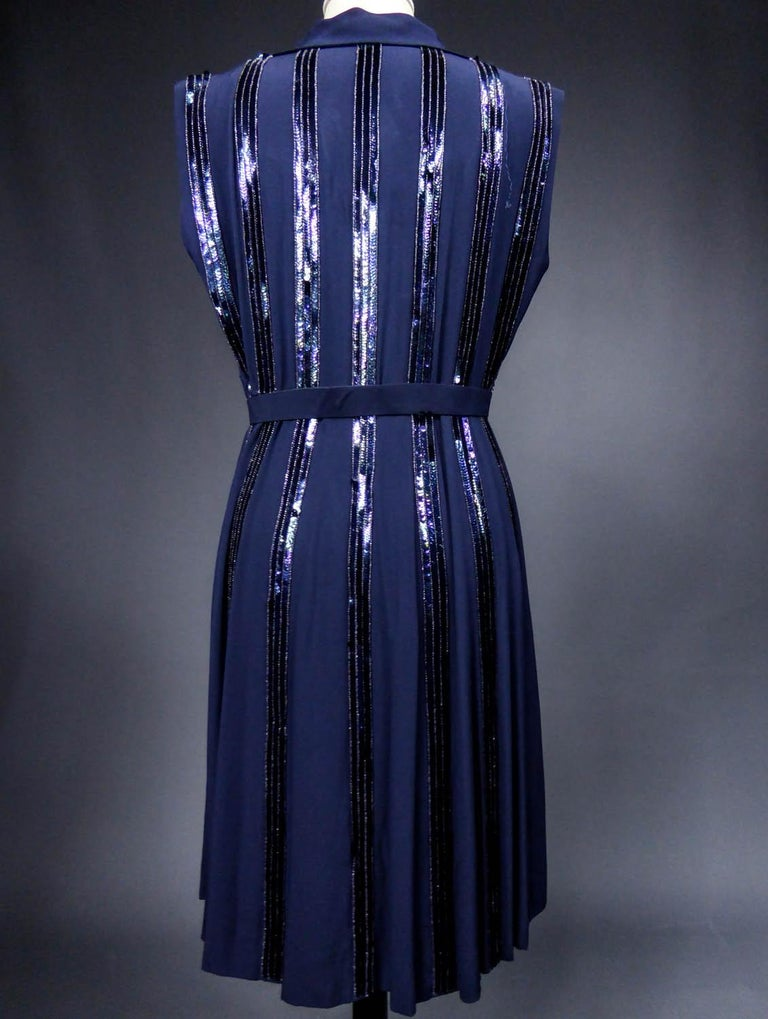 Worth Couture Dress, Circa 1960 For Sale 5