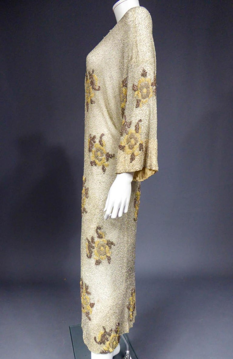 Women's French Couture beaded coat in the style of Paul Poiret, Circa 1930 For Sale