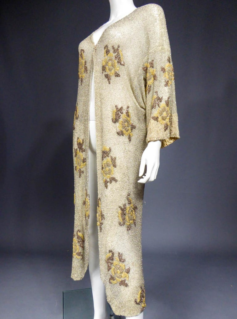 French Couture beaded coat in the style of Paul Poiret, Circa 1930 For Sale 1