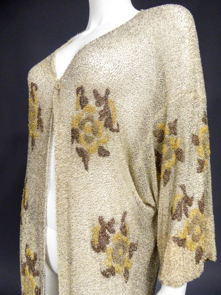 French Couture beaded coat in the style of Paul Poiret, Circa 1930 For Sale 2