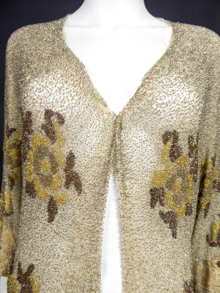 French Couture beaded coat in the style of Paul Poiret, Circa 1930 For Sale 5