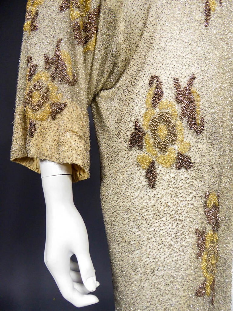 French Couture beaded coat in the style of Paul Poiret, Circa 1930 For Sale 7