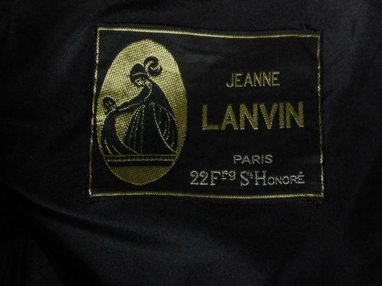 Black Jeanne Lanvin Couture cocktail dress, Circa 1965 For Sale