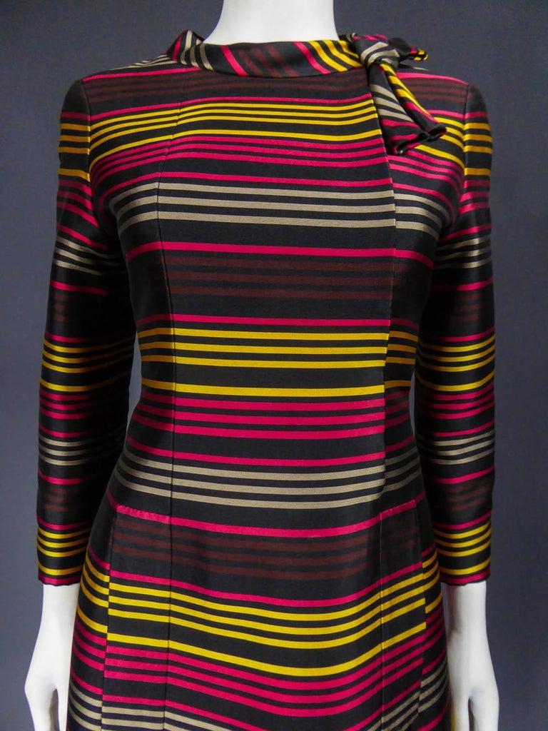 Women's Jeanne Lanvin Couture cocktail dress, Circa 1965 For Sale