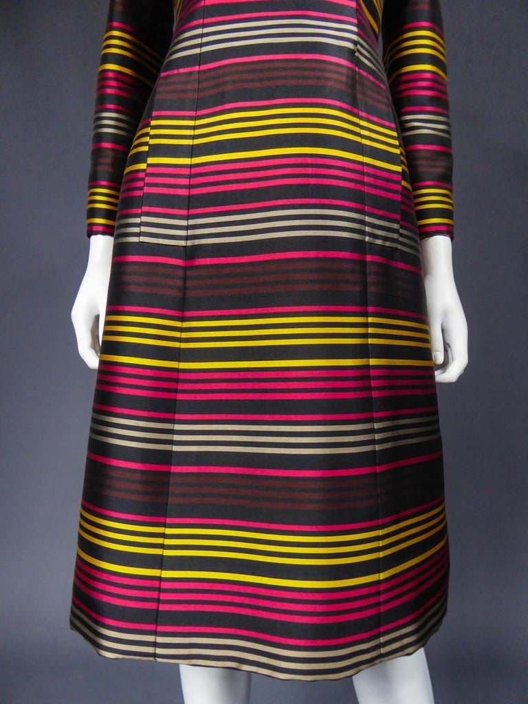 Jeanne Lanvin Couture cocktail dress, Circa 1965 For Sale 1