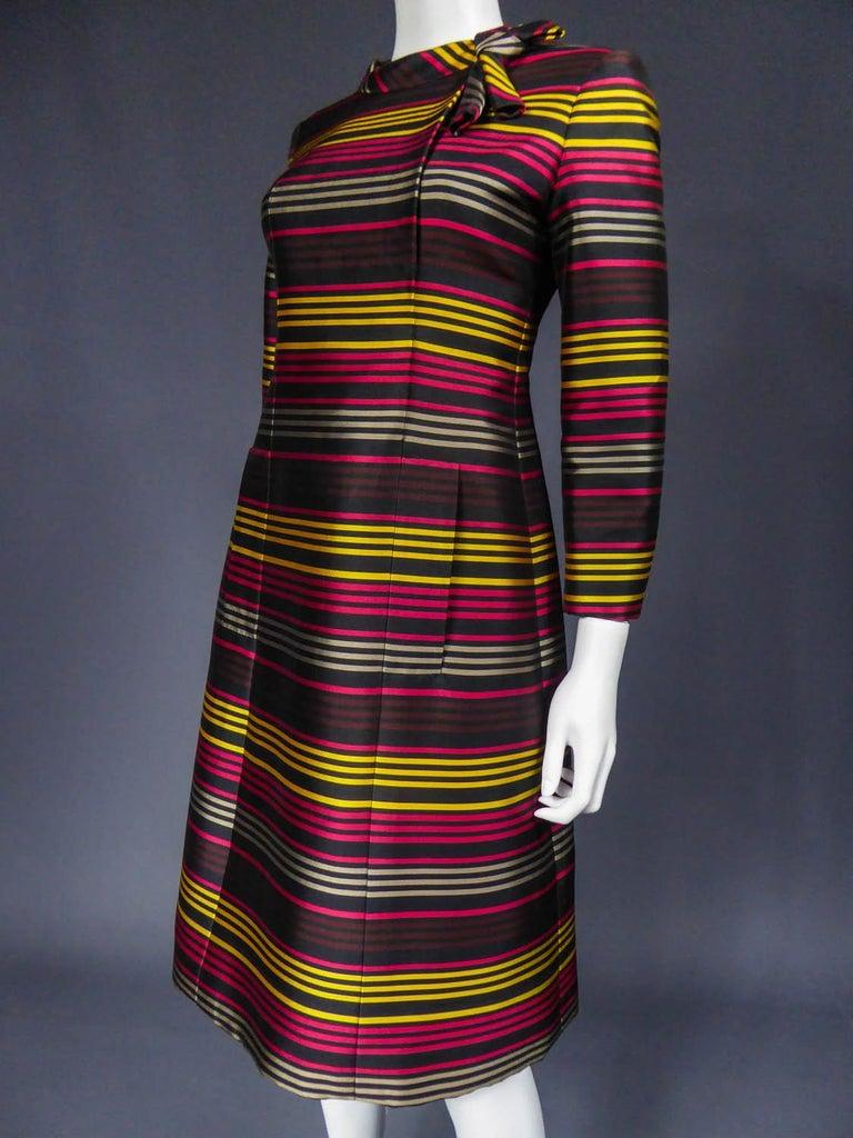 Jeanne Lanvin Couture cocktail dress, Circa 1965 For Sale 2