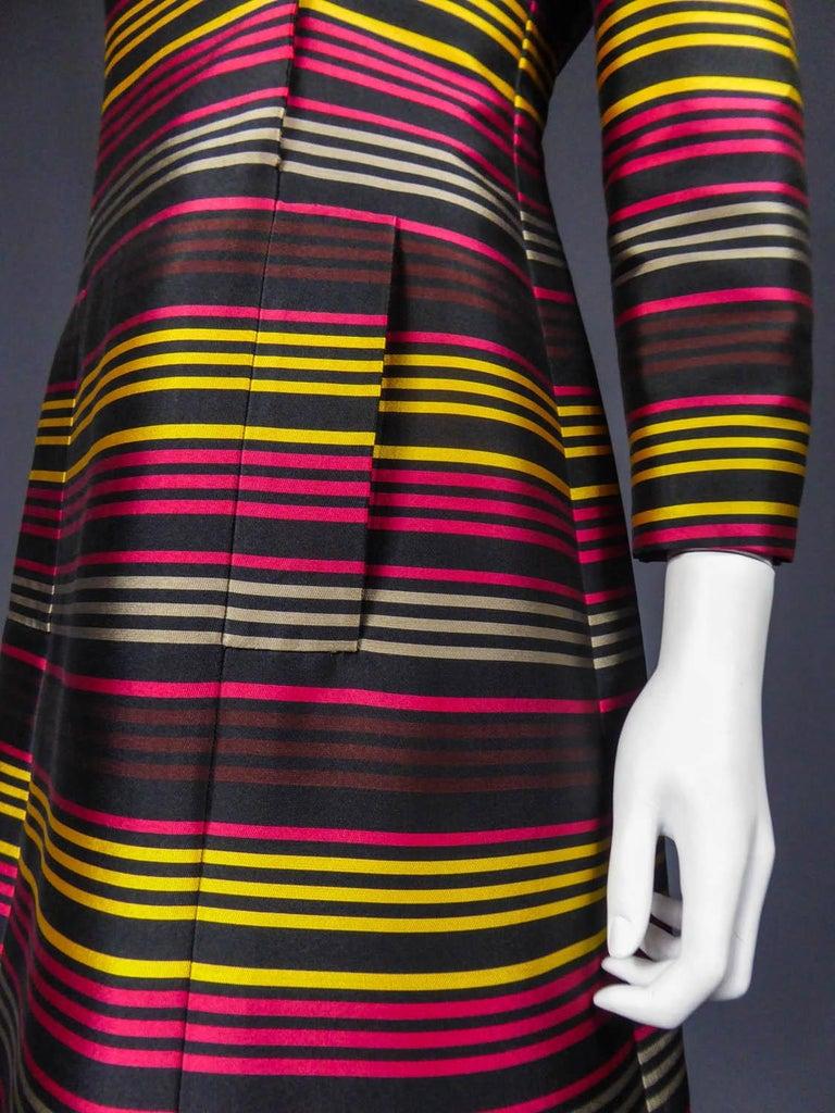 Jeanne Lanvin Couture cocktail dress, Circa 1965 For Sale 3
