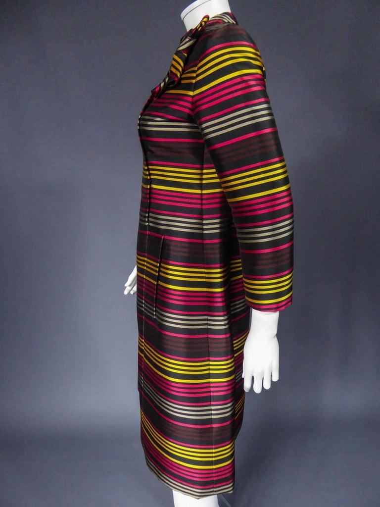 Jeanne Lanvin Couture cocktail dress, Circa 1965 For Sale 5