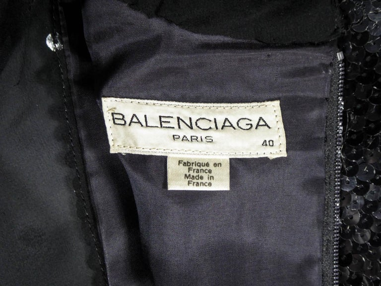 Black Balenciaga by Nicolas Ghesquière Little black dress, Circa 1995  For Sale