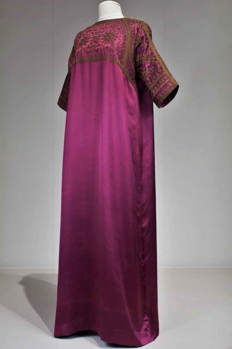 A Babani French Couture Orientalist Kaftan/Satin Evening Dress Circa 1930  For Sale 1