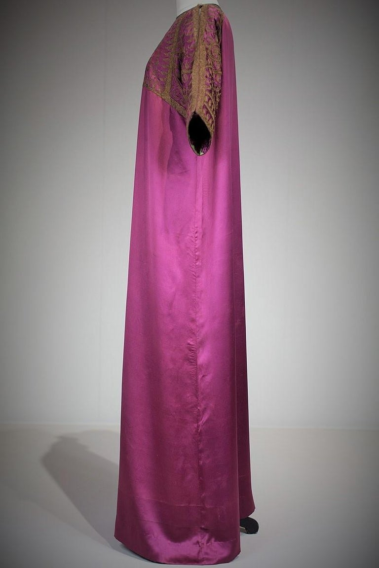 A Babani French Couture Orientalist Kaftan/Satin Evening Dress Circa 1930  For Sale 2