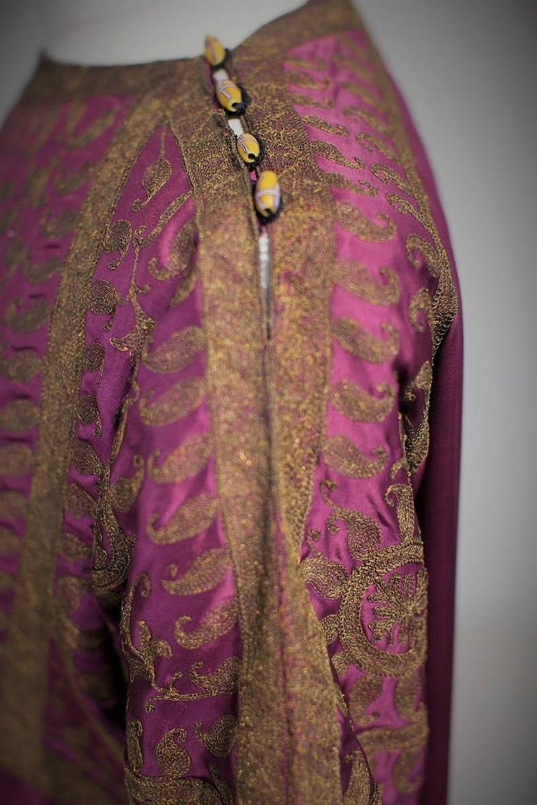 A Babani French Couture Orientalist Kaftan/Satin Evening Dress Circa 1930  For Sale 3
