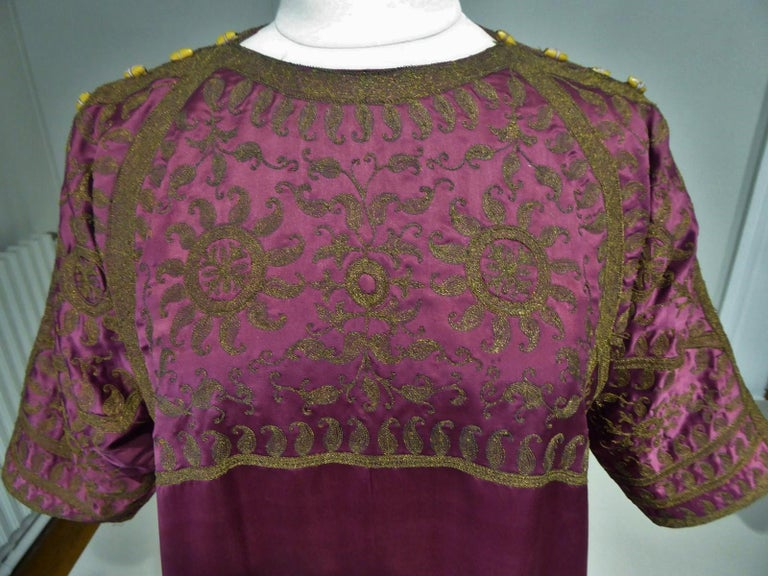 A Babani French Couture Orientalist Kaftan/Satin Evening Dress Circa 1930  For Sale 4