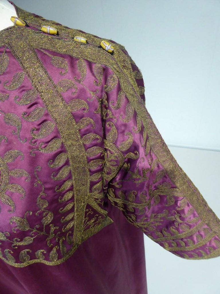 A Babani French Couture Orientalist Kaftan/Satin Evening Dress Circa 1930  For Sale 5