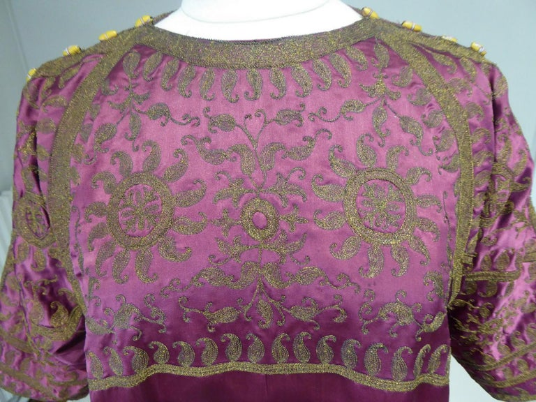 A Babani French Couture Orientalist Kaftan/Satin Evening Dress Circa 1930  For Sale 6