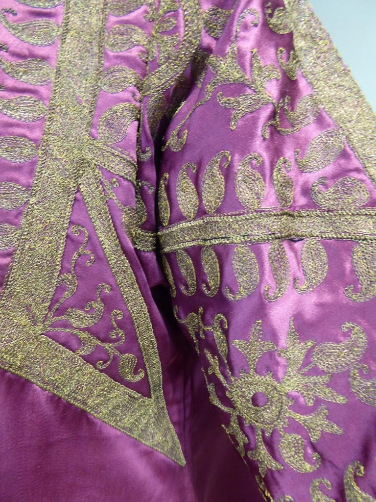 A Babani French Couture Orientalist Kaftan/Satin Evening Dress Circa 1930  For Sale 7