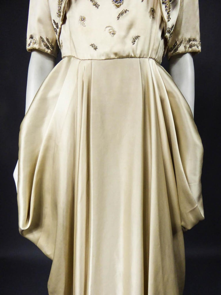 Women's Pierre Balmain evening dress Bolero and purse Circa 1950 For Sale