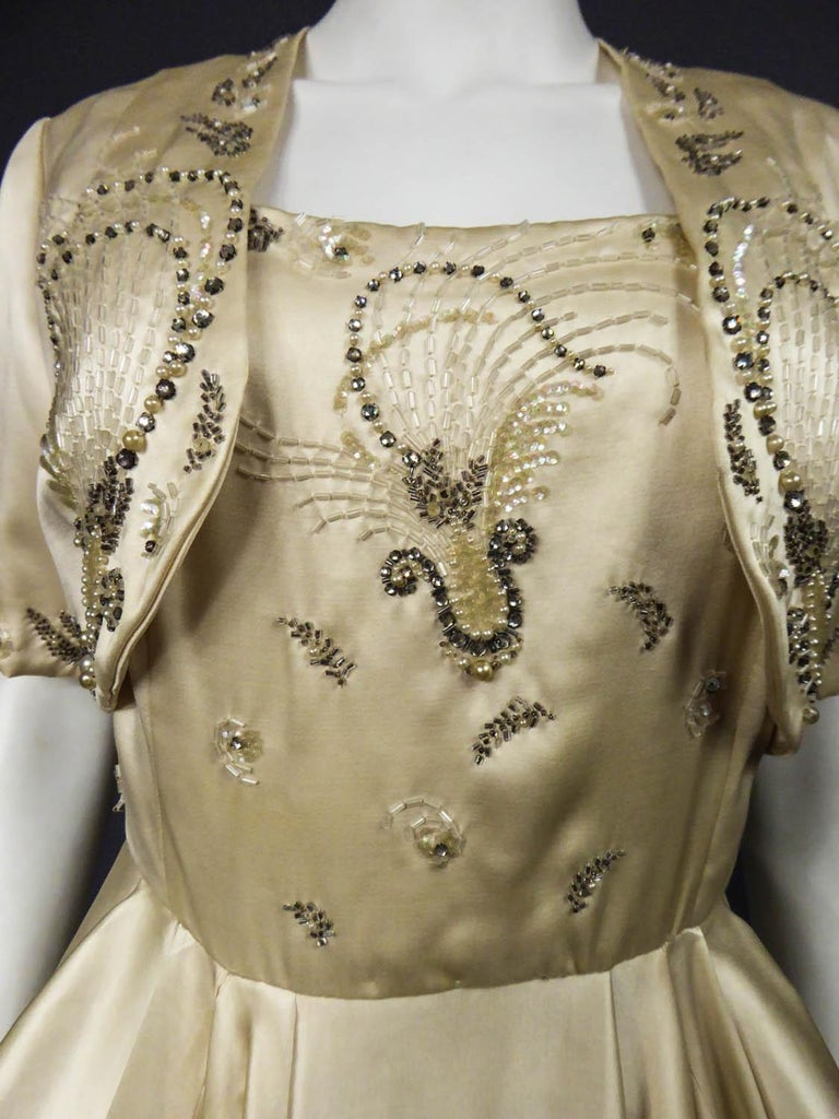 Pierre Balmain evening dress Bolero and purse Circa 1950 For Sale 2