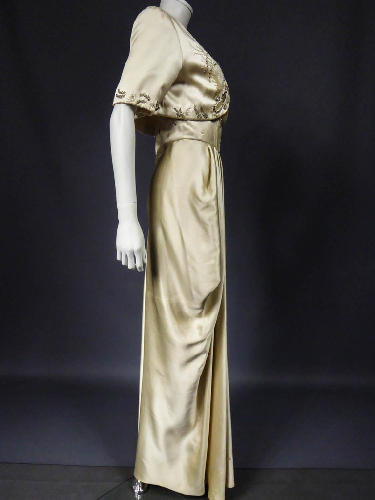Pierre Balmain evening dress Bolero and purse Circa 1950 For Sale 6