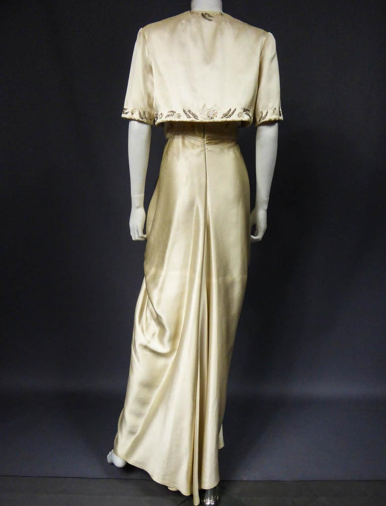 Pierre Balmain evening dress Bolero and purse Circa 1950 For Sale 7