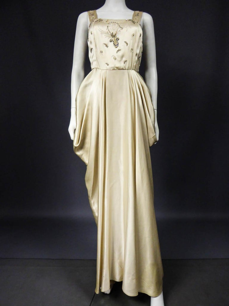 Pierre Balmain evening dress Bolero and purse Circa 1950 For Sale 9