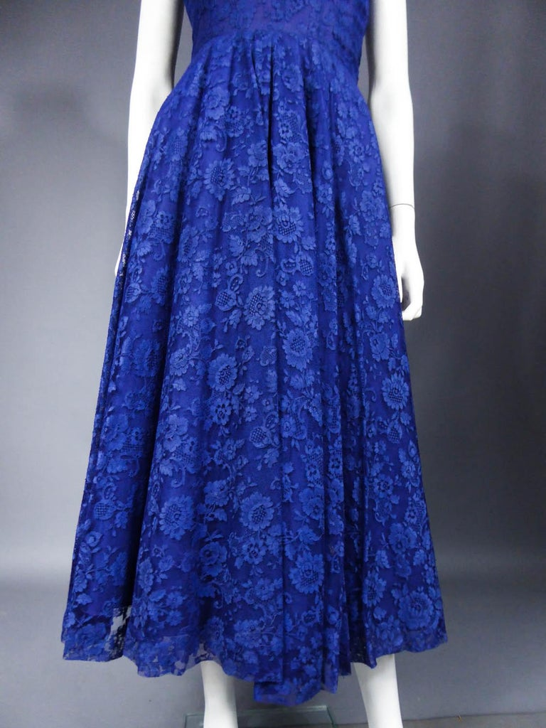 Women's A Louis Féraud Haute Couture  French Lace Ballgown - Circa 1950/1955 For Sale