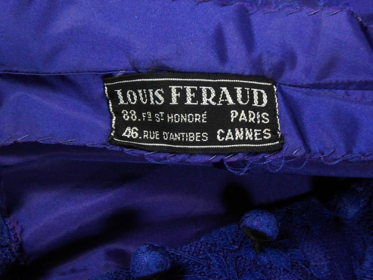 A Louis Féraud Haute Couture  French Lace Ballgown - Circa 1950/1955 For Sale 1
