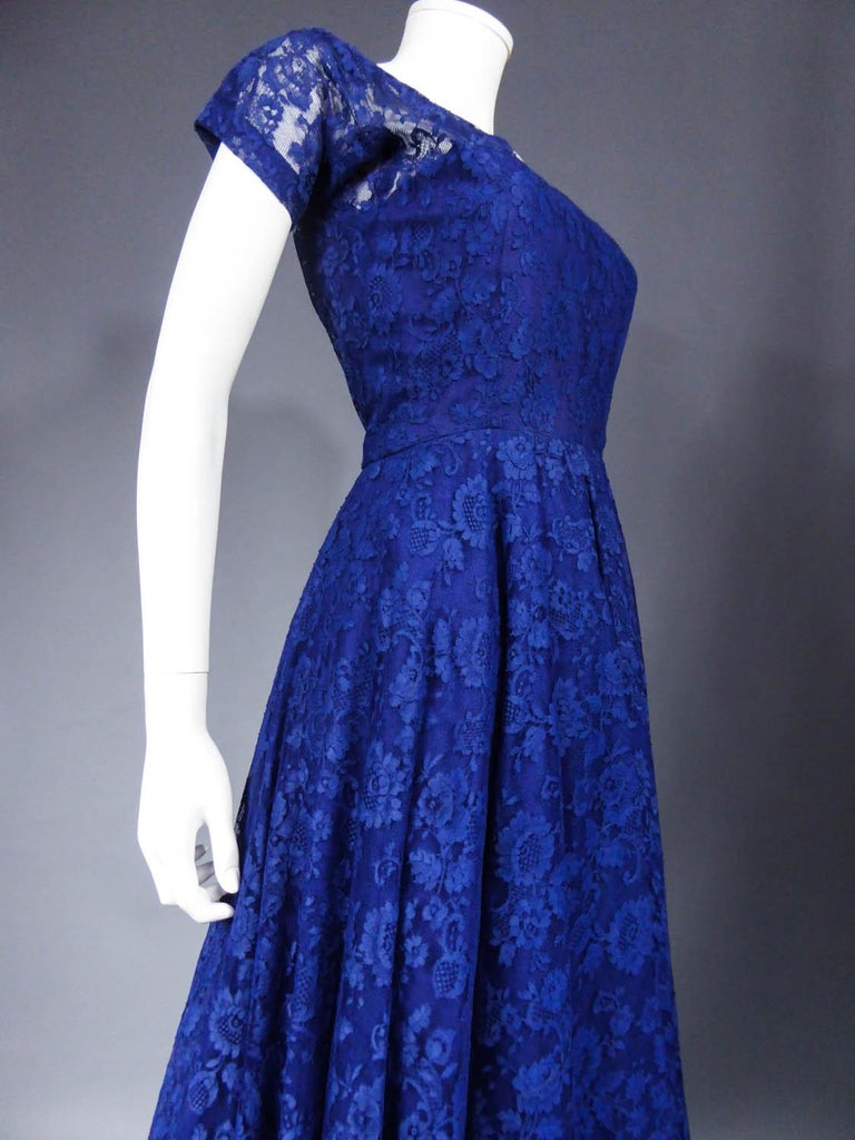A Louis Féraud Haute Couture  French Lace Ballgown - Circa 1950/1955 For Sale 3