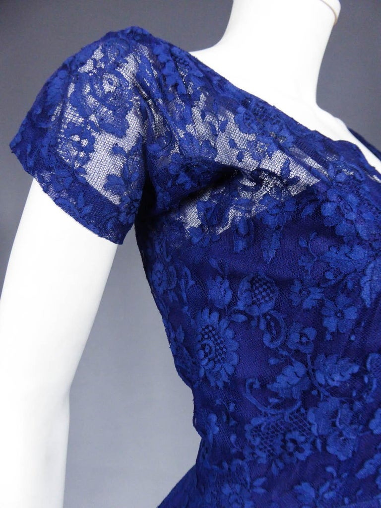 A Louis Féraud Haute Couture  French Lace Ballgown - Circa 1950/1955 For Sale 4