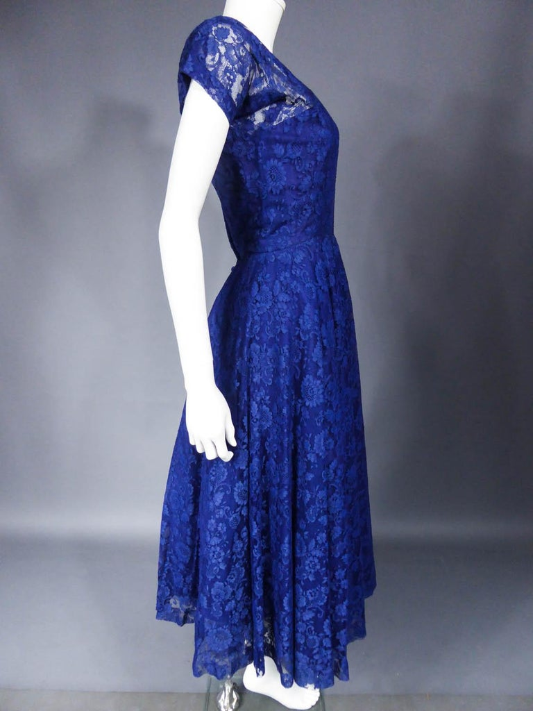 A Louis Féraud Haute Couture  French Lace Ballgown - Circa 1950/1955 For Sale 5