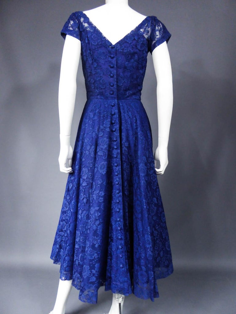 A Louis Féraud Haute Couture  French Lace Ballgown - Circa 1950/1955 For Sale 6