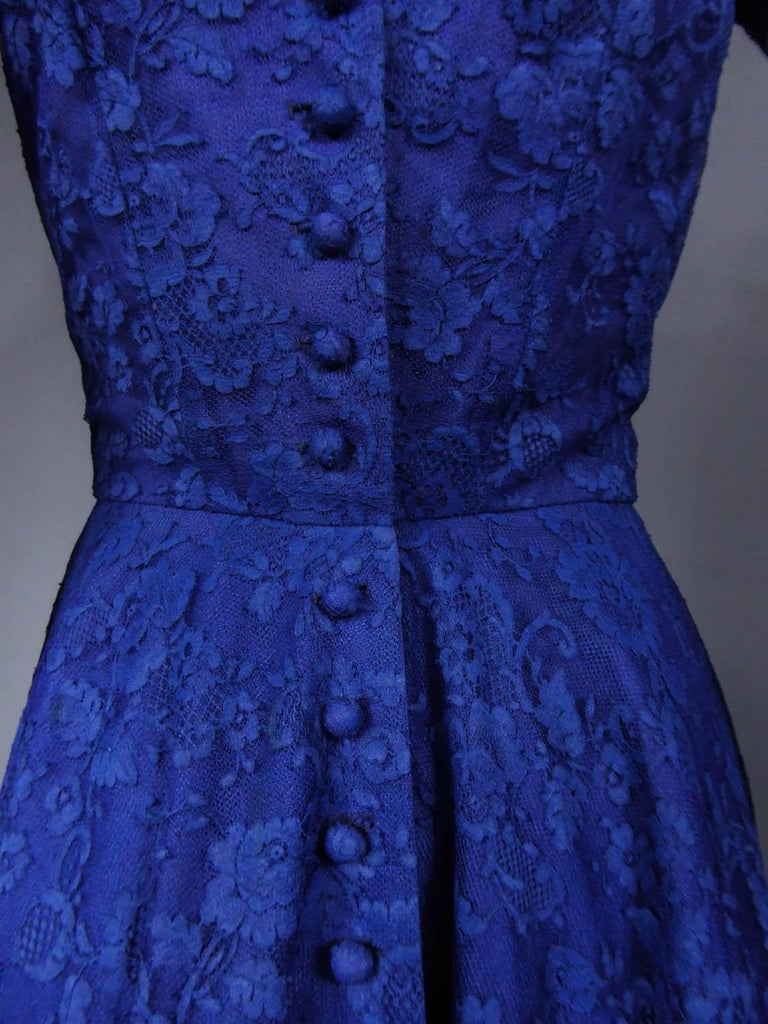 A Louis Féraud Haute Couture  French Lace Ballgown - Circa 1950/1955 For Sale 7