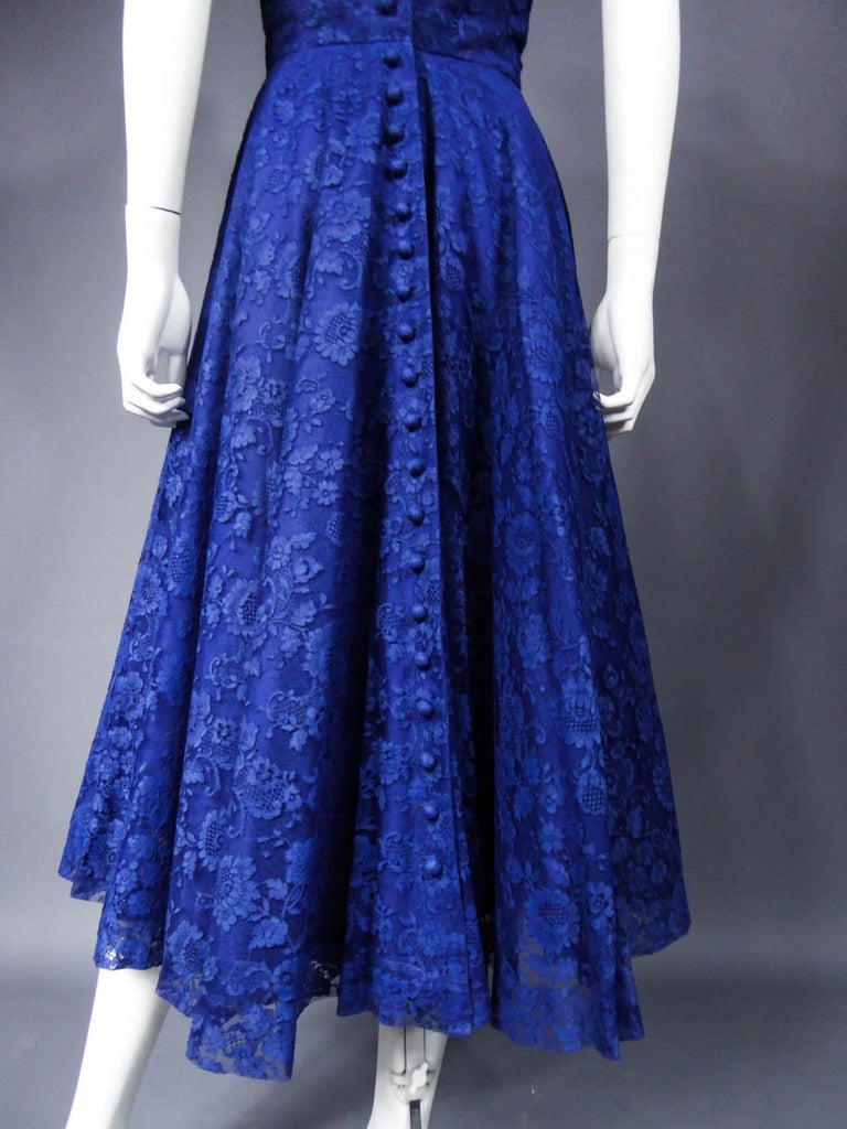 A Louis Féraud Haute Couture  French Lace Ballgown - Circa 1950/1955 For Sale 8