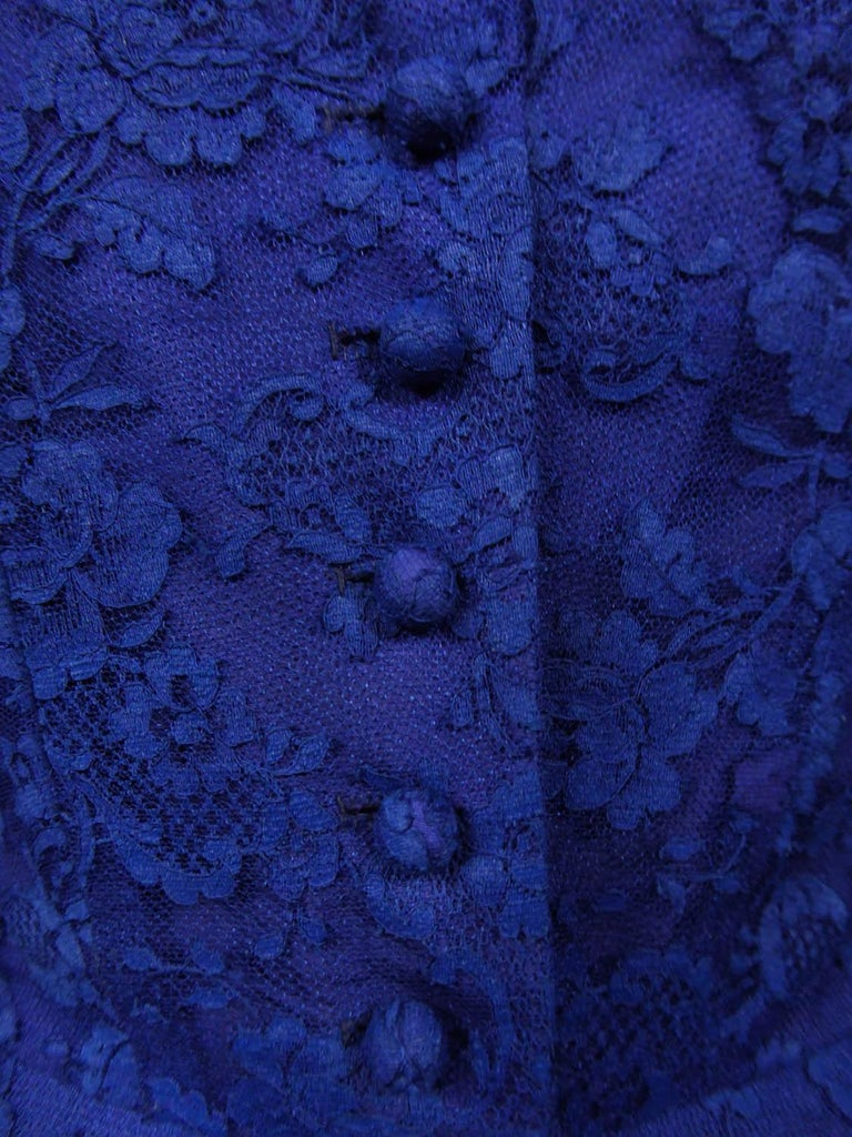 A Louis Féraud Haute Couture  French Lace Ballgown - Circa 1950/1955 For Sale 9