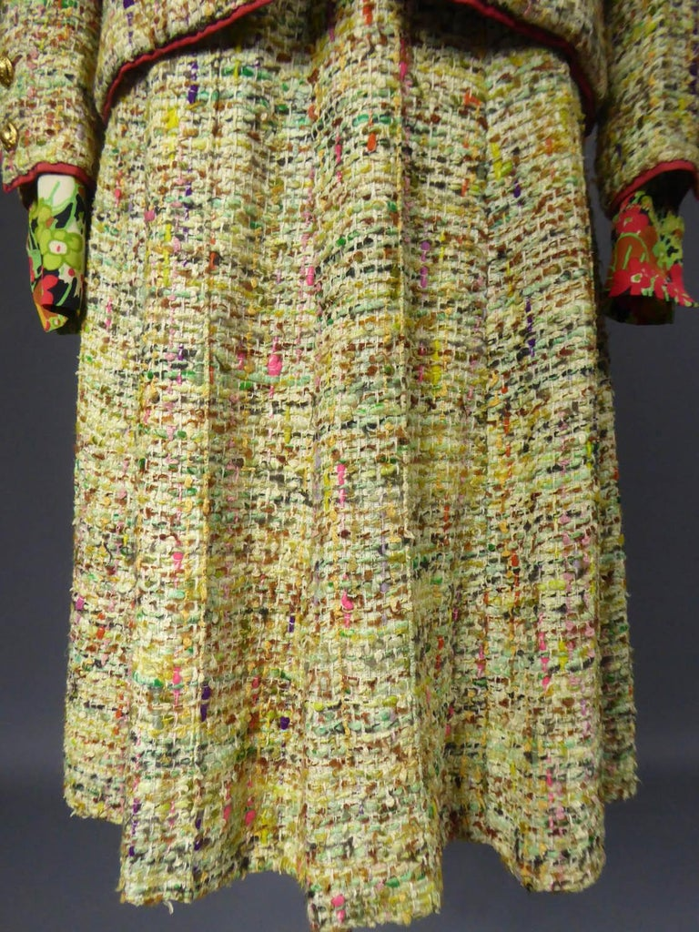 A numbered Haute Couture Chanel Skirt and Blouse Suit Circa 1968/1971 For Sale 1
