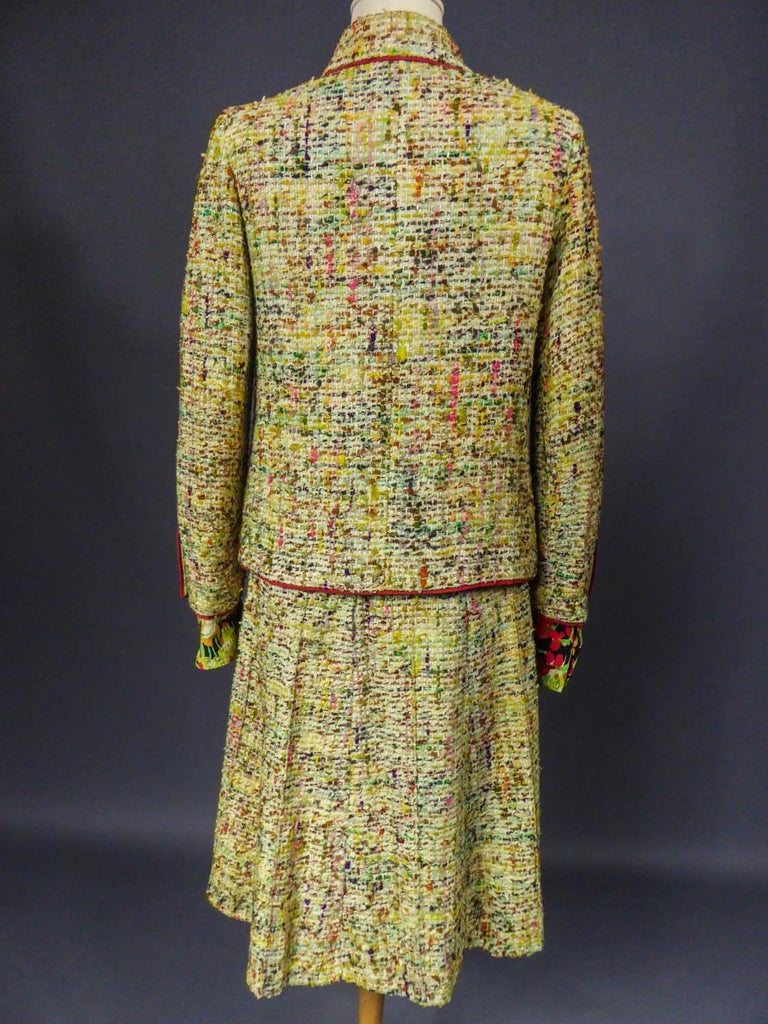 A numbered Haute Couture Chanel Skirt and Blouse Suit Circa 1968/1971 For Sale 6
