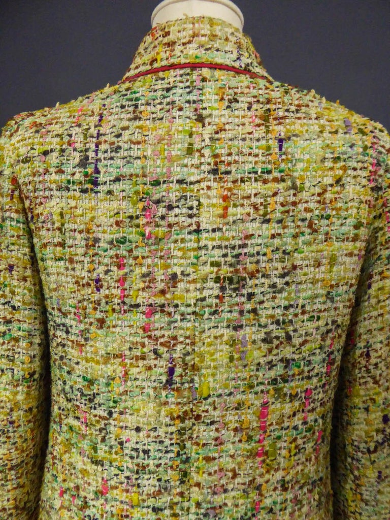 A numbered Haute Couture Chanel Skirt and Blouse Suit Circa 1968/1971 For Sale 7