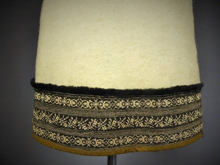 Wool jacket embroidered - Macedonia early 20th century For Sale 7