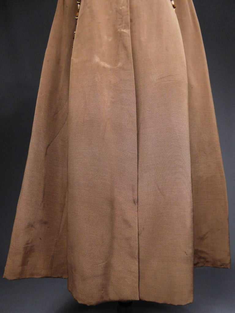 Brown French Evening Cape with Trimmings Emile Pingat style 1890 - 1905 For Sale