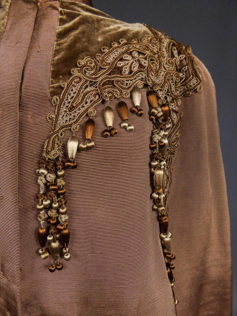 Women's French Evening Cape with Trimmings Emile Pingat style 1890 - 1905 For Sale
