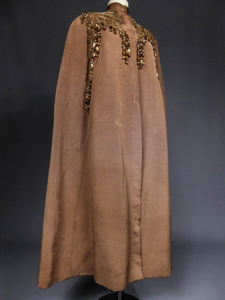 French Evening Cape with Trimmings Emile Pingat style 1890 - 1905 For Sale 2