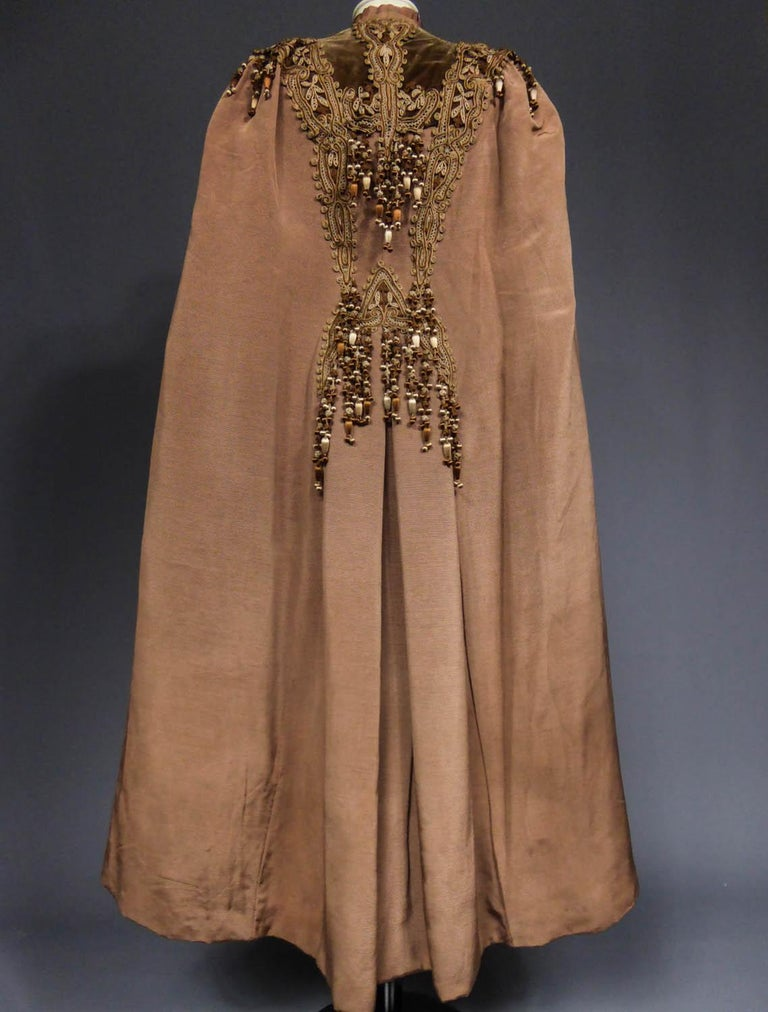 French Evening Cape with Trimmings Emile Pingat style 1890 - 1905 For Sale 5