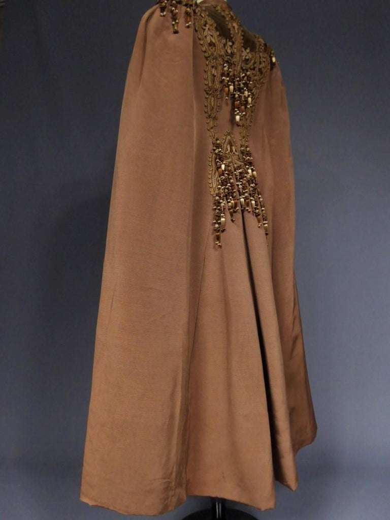 French Evening Cape with Trimmings Emile Pingat style 1890 - 1905 For Sale 6