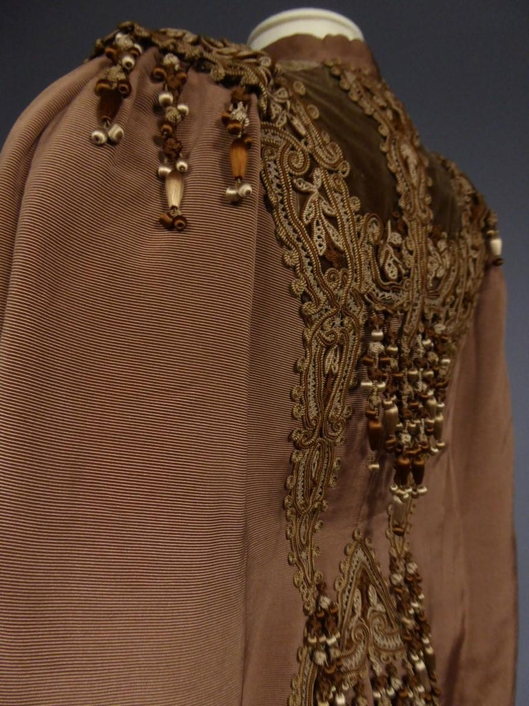 French Evening Cape with Trimmings Emile Pingat style 1890 - 1905 For Sale 8