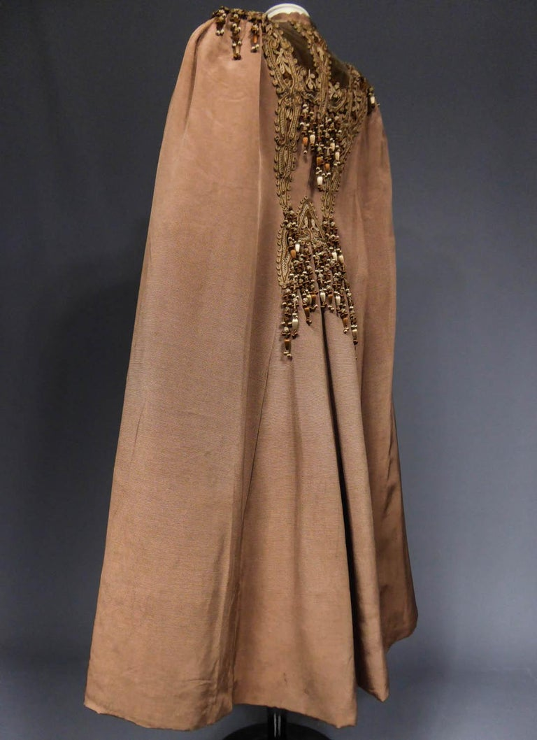 French Evening Cape with Trimmings Emile Pingat style 1890 - 1905 For Sale 12
